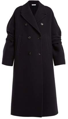 Jil Sander Fidenza Wool And Cashmere Blend Coat - Womens - Dark Blue