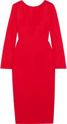 Sara Battaglia Cool Wool Midi Dress