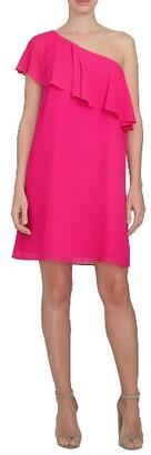 Women's Cece One-Shoulder Chiffon Dress $119 thestylecure.com