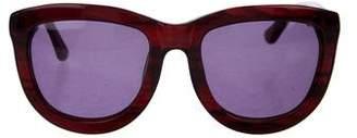 Linda Farrow The Row x Oversize Tinted Sunglasses