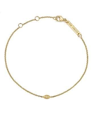 Chicco Zoë 14K Yellow Gold Itty Bitty Diamond Evil Eye Bracelet
