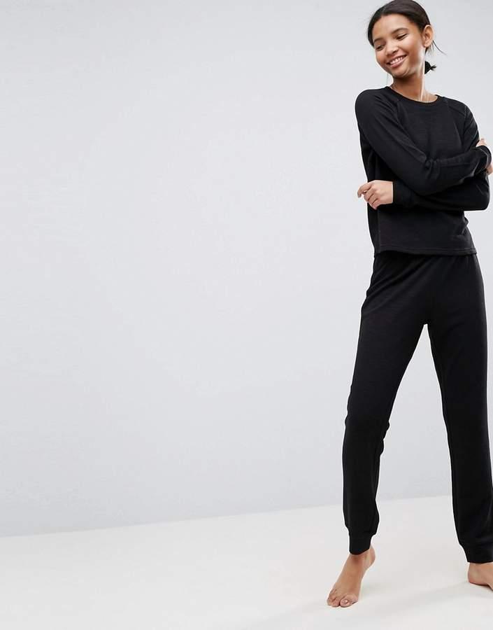 – LOUNGE – Sweatshirt und Jogginghose im Set