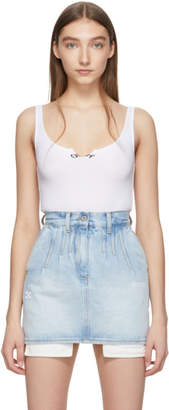 Off-White White Cutted Tank Top