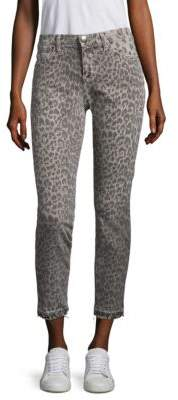Current/Elliott Leopard-Print Ankle Pants