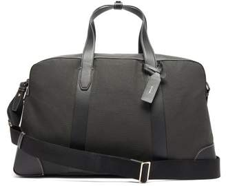Paul Smith Leather Trimmed Canvas Holdall - Mens - Khaki
