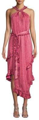 Derek Lam 10 Crosby Printed Asymmetrical Midi Dress