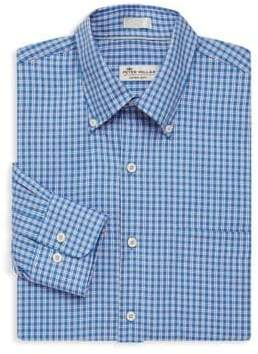 Peter Millar Crown Soft Cabernet Check Dress Shirt