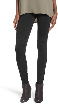 Women's Bp. Stretch Cotton Moto Leggings $39 thestylecure.com