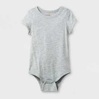 Cat & Jack Toddler Girls' Adaptive Short Sleeve Bodysuit Heather Gray
