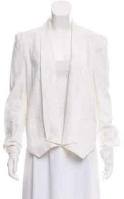Rebecca Minkoff Silk Open Front Blazer