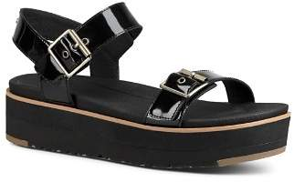 UGG Women's Angie Leather Platform Sandals