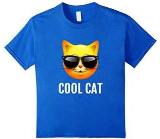 Cool Cat Emoji T-Shirt Funny Cat Emoticon Tee