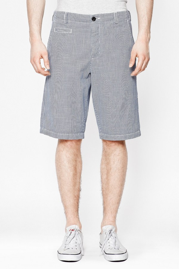 French Connection Washed Gingham Shorts