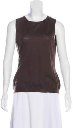 Valentino Merino Wool Sleeveless Top