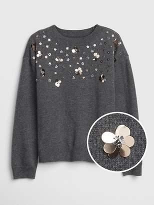 Gap Floral Applique Sweater