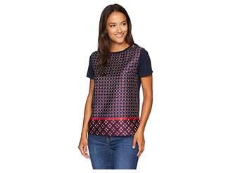 Lauren Ralph Lauren Petite Geometric-Print T-Shirt