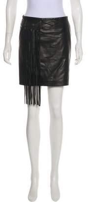 Tamara Mellon Leather Mini Skirt
