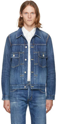 Visvim Blue Damaged Denim 101 Jacket