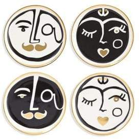 Jonathan Adler Set of Four Marseilles Porcelain Coasters