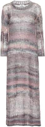 Acne Studios Loose-fit Striped Mohair-blend Dress