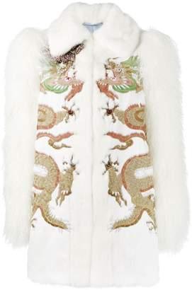 Gucci (グッチ) - Gucci ドラゴン刺繍 ファージャケット