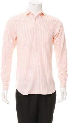 Salvatore Piccolo Striped Button-Up Shirt