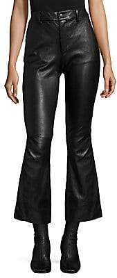 Helmut Lang Women's Leather Crop Flared Pants