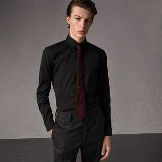 Burberry Slim Fit Stretch Cotton Shirt