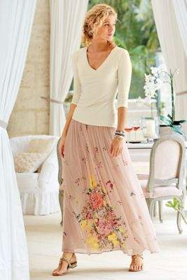 Soft Surroundings Summer Blooms Skirt