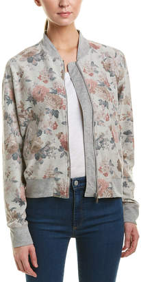 Three Dots Floral Bomber Jacket