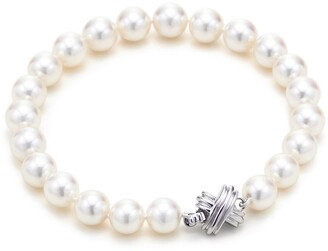 Tiffany Co Signature Pearls Bracelet Of With 18ct White Gold Size