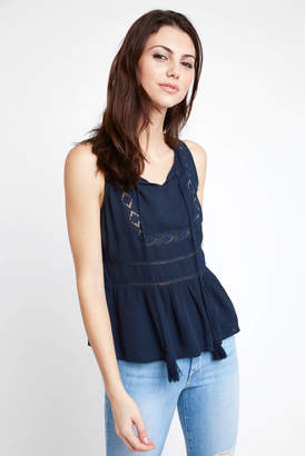 Patrons Of Peace Embroidered Gauze Swing Tank