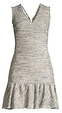Rebecca Taylor Women's Sleeveless Tweed Dress - Size 0