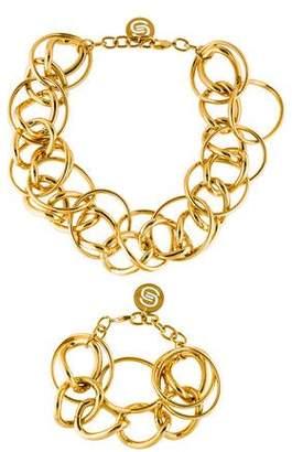 Elie Saab Parure Necklace & Bracelet Set