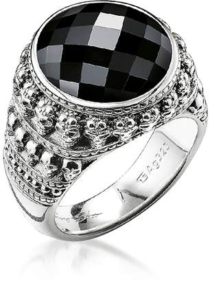aab5205efbc0 Thomas Sabo Rebel Skulls Sterling Silver Ring w Onyx