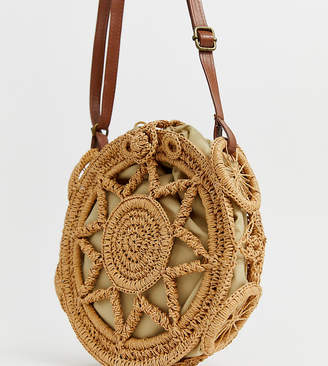 South Beach tan crochet cross body bag