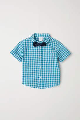 H&M Shirt and Bow Tie - Turquoise