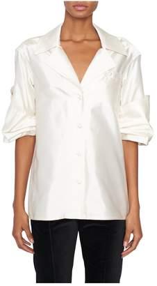 Rosie Assoulin Peekaboo Button-Up Shirt