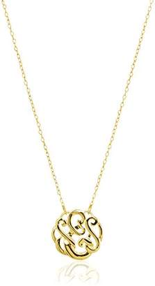 Plated Sterling Silver Small Monogram Initial 'E' Necklace