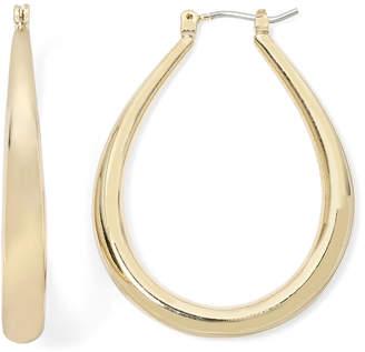 MIXIT Sensitive Ears Gold-Tone Oval Hoop Earrings