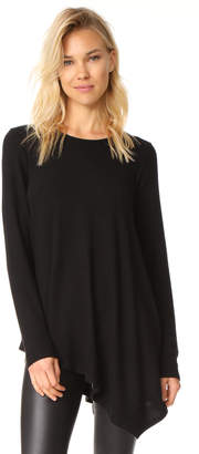 Three Dots Asymmetrical Tunic Sweater $102 thestylecure.com