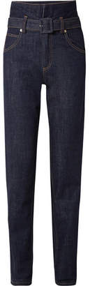 Carven High-rise Straight-leg Jeans - Indigo