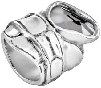 Uno de 50 Eye Of The Crocodile Swarovski Crystal Accented Ring
