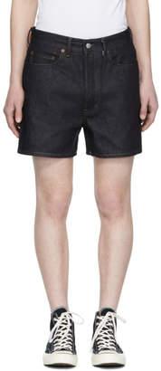 Acne Studios Bla Konst Indigo Denim Canoe Shorts