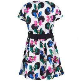 Juicy Couture Multi-Print Black Waistband Dress