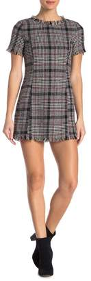 Romeo & Juliet Couture Frayed Plaid Dress