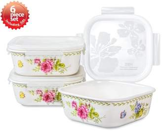 Lock & Lock Ashley Square 3 Container Food Storage Set