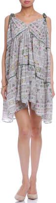 Carolina K. シルク混 プリント 3way ドレス/スカート ダイヤモンドホワイト s