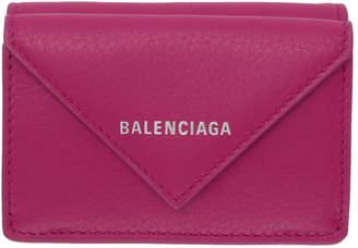 Balenciaga (バレンシアガ) - Balenciaga ピンク ミニ ペーパー ウォレット