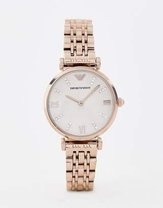 Emporio Armani AR11059 T-bar bracelet watch in rose gold 32mm
